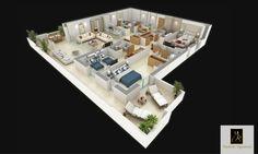 Appartement Triplex Véritable appartement villa de 300 m², situé au 3ème et 4ème étage, offre une grande cuisine, une chambre de service et un double séjour lumineux. A l'étage, le choix vous est offert entre 3 ou 4 suites indépendantes. La suite parentale offre un grand dressing, une salle de bains confortable et un joli balcon. Les autres suites sont elles aussi pensées pour offrir confort et intimité. Du séjour, un escalier intérieur vous donne accès au solarium privatif .