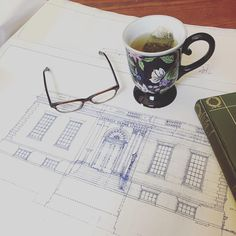 Just came across these beautiful blueprints of the Farms Branch Library by Loring & Leland Architects. Date of design: 7-10-15... As if it were yesterday!