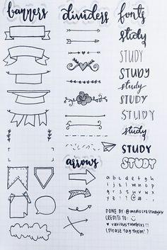 Bullet jurnal ideas