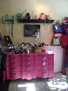 pink french dresser by swanketyswank, via Flickr