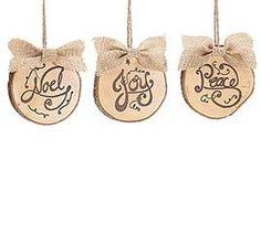 Wood Tree Trunk Ornaments