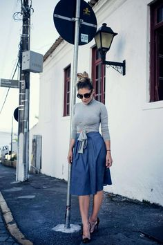 Audrey skirt + Cropped street - Riviera Couture Jeans skirt ,