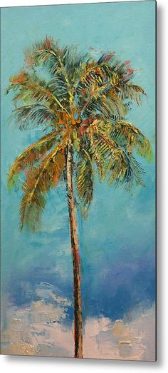 Palm Tree Acrylic Print by Michael Creese. All acrylic prints are professionally printed, packaged, and shipped within 3 - 4 business days and delivered ready-to-hang on your wall. Choose from multiple sizes and mounting options. Palm Tree Drawing, Palm Tree Art, Tree Wall Art, Palm Trees, Palm Tree Paintings, Tree Artwork, Oil Paintings, Landscape Paintings, Boxing Day