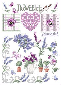 Provence - Stickvorlage Lindner's Kreuzstiche