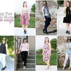 Remixing Your Wardrobe: Peep Toe Ankle Boots