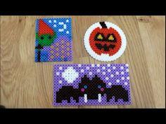 DIY: Halloween Special: Bügelperlen Glasuntersetzer 3 Motive Fledermaus,...