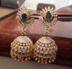 Cheap Diamond Diamond Choker and Tremendous Jhumkas - Latest Collection of best Indian Jewellery Designs. Diamond Jumkas, Diamond Choker, Diamond Pendant Necklace, Diamond Bracelets, Diamond Jewelry, Gold Jewelry, Gold Necklaces, Jewlery, Pearl Necklace