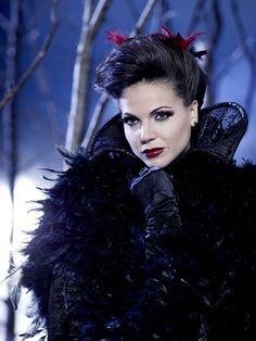 "Lana Parrilla as ""Evil Queen Regina""...on Once Upon a Time...I absolutely love the costumes on this show!"