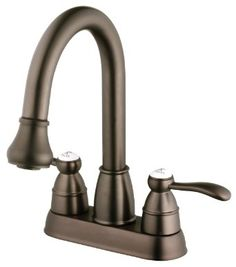 Belle Foret BFN60001ORB Pull Down Spray Laundry Faucet, Oil Rubbed Bronze - Amazon.com $143 twist to change to spray