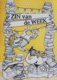 De ZIN van de WEEK! - SlimmeKleuters Rap, Literacy, Letters, School, Slim, Wraps, Letter, Lettering, Rap Music