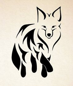 Like the tribal black and white style for my fox tattoo Tribal Fox, Arte Tribal, Tribal Animal Tattoos, Tribal Drawings, Tribal Animals, Geometric Tattoos, Fox Tattoo Design, Tattoo Designs, Fox Design