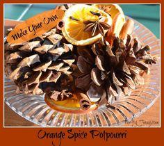 Orange Spice Potpourri: Homemade Christmas Gifts