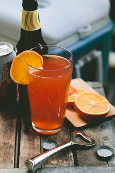 Blood Orange Shandy | 17 Refreshing Beer Cocktails You Need In Your Life