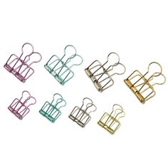 5Pcs Hollow Metal Binder Clips Home Office School File Wire Paper Organizer Hot