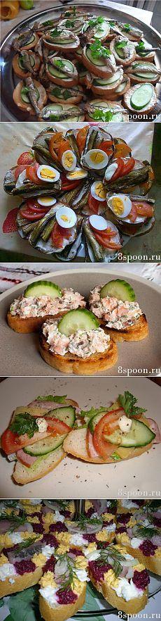 Праздничные бутерброды: вкусные рецепты с фото   8 Ложек