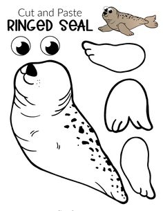 Seal Crafts For Kids, Animal Crafts For Kids, Winter Crafts For Kids, Polar Animals Preschool Crafts, Animal Activities, Animal Art Projects, Toddler Art Projects, Artic Animals, Fox Crafts