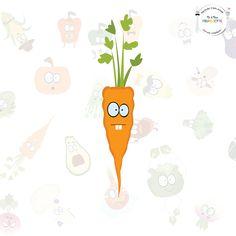 ELLIOT LA CAROTTE Le plus croquant des légumes !  Voici...Elliot... La carotte ! Ce joli légume aux nombreuses vertus est le plus aimable de la famille ! Bon pour la peau et pour la vue, il est le roi de l'apéritif... Pour le plus grand plaisir des gourmands ! Il est le 2ème légume le plus consommé en France. Saviez vous que nous pouvions aussi l'appeler « Pastenade » ? Et bien maintenant vous le savez !