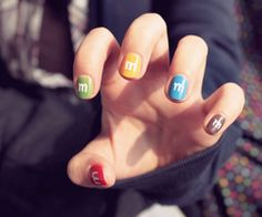 Hah! Candy nails!