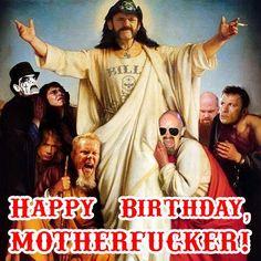 Happy Birthday Lemmy, you Motherfucker! ;) #Lemmy #HappyBirthday #BillyEight #Christmas