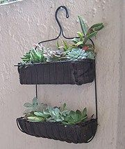 Genius. Why didn't I think of that? Don't you just love this shower caddy turned garden planter? In this particular planter there are succulents planted, but there are a host of possibi…