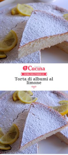 Egg whites cake with lemon- Torta di albumi al limone Egg whites cake with lemon -