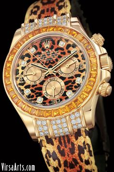 Leopard Rolex Watch. Wow.  More Fashion At  www.thedillonmall.com