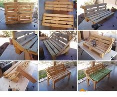 how to make a bench from pallets