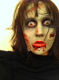 Teen Zombie Program. | 90 minute teen zombie party program.  |The blog post is comprehensive; it includes an event flyer, a youtube makeup video, and supplies lists for makeup, literature, and mini activities.