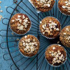 There's nothing wrong with craving baked goods in the morning, and if you whip up a batch of our breakfast muffins this weekend, you can have just that. Vanilla Essence, Breakfast Muffins, No Bake Desserts, Baked Goods, Cravings, Oatmeal, Vegetarian, Healthy Recipes, Baking