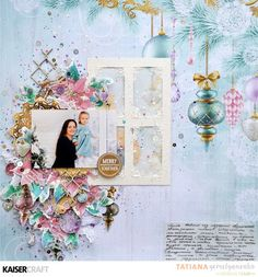"""Merry Memories Together"" layout by Tatiana Yemelyanenko Design Team member for Kaisercraft using 'Christmas Wishes' collection ~ Wendy Schultz ~ Christmas Layouts. Christmas Albums, Christmas Scrapbook, Christmas Wishes, Christmas Crafts, Xmas, Christmas Layout, Scrapbooking Layouts, Scrapbook Pages, White Glitter"