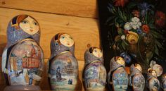 Manorogi, Russia   - Hand painted Russian stacking dolls (photo by Peggy Mooney)