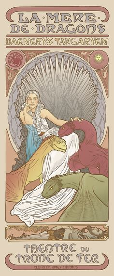 These 'Game Of Thrones' Characters In The Style Of Mucha Are Awesome