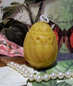 Beeswax Owl Candle by catfishcreekcandles on Etsy, $4.00