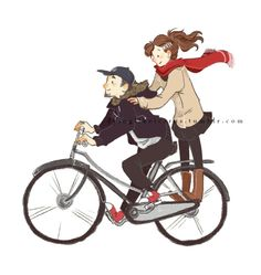 Bromance Fanart drawings Persona 3 bicycle p3 p3p minako arisato junpei iori THE BROMANCE IS SO STRONG AND GIVES ME SO MANY FEELS finalartwork