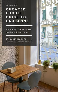 Here is your insiders guide to the charming city of Lausanne! I have created the foodie guide that I would like to have while visiting Lausanne or any other city in the world. The guide includes a 4-day itinerary guiding you from breakfast, dinner and lunch spots to specialty coffee shops, artisanal chocolate shops and the city's best desserts. It also includes detailed descriptions based on interviews with chefs and restaurant owners. Bon Appetit! Artisan Chocolate, Chocolate Shop, Restaurant Owner, Lausanne, Like A Local, Coffee Shops, Fun Desserts, Bon Appetit, Chefs