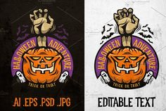 Halloween Adventure Emblem by DreamBikeShop on @creativemarket