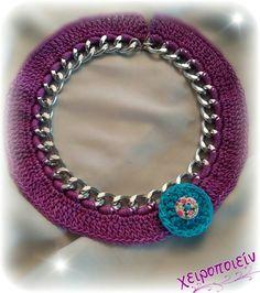Πλεκτό κολιέ αλυσίδα με βελονάκι  Chroset necklace Χειροποίητα κοσμήματα Crochet Earrings, Jewelry, Fashion, Jewelery, Jewellery Making, Moda, Jewels, Fashion Styles, Jewlery