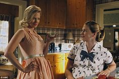 Immaculate look: January Jones, left, plays perfect housewife Betty Draper in Mad Men but many real women of the era wouldn't have had time ...