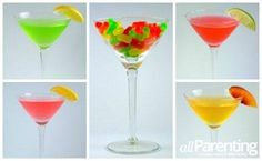 4 Mike and Ike martinis