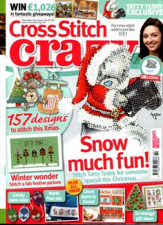 - Don't miss the first Christmas 2012 issue of Cross Stitch Crazy! Cross Stitch Tree, Cross Stitch Books, Cross Stitch Cards, Cross Stitching, Cross Stitch Embroidery, Magazine Cross, Diy Crafts For Adults, Cross Stitch Magazines, Tatty Teddy