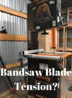 Learn how to properly install the right type of blade and say bandsaw blade tension amazingwoodworkingshops greentooth Choice Image