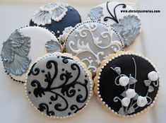 Christy's Savories: Black, White, And Silver Cookies