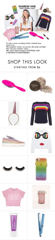 """Rainbow style"" by brunellademasideluca ❤ liked on Polyvore featuring beauty, Rock & Ruddle, Minna Parikka, Alice + Olivia, Rebecca Minkoff, Torrid and BaByliss"