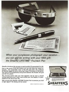 This Sheaffer advertisement isn't all that dissimilar to Google Glass, funnily enough!
