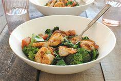 Seared Shrimp Vindaloo with Vegetables | Bev Cooks