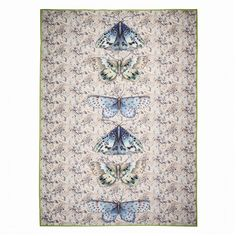 Issoria Jade Throw design by Designers Guild Designers Guild, Tricia Guild, Butterflies Flying, Luxury Throws, Butterfly Decorations, Beautiful Bugs, Round Pillow, Fine Linens, Luxury Home Decor