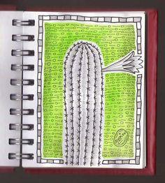 Ilustrador Alexiev Gandman: Hay un cactus en flor en mi Anotador