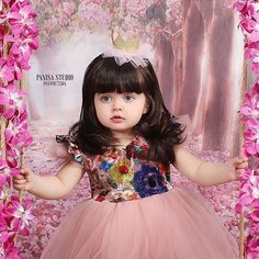 Beautiful Baby Pictures, Cute Baby Girl Pictures, Baby Girl Photos, Beautiful Baby Girl, Cute Girl Pic, Cute Girl Poses, Cute Baby Dresses, Dresses Kids Girl, Cute Funny Babies