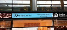 Sign makers in London: Montezuma's chocolate shop in Spitafields Market