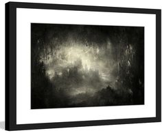 """Underground Kingdom"" Surreal Artists Mixed Media Framed Painting Print"